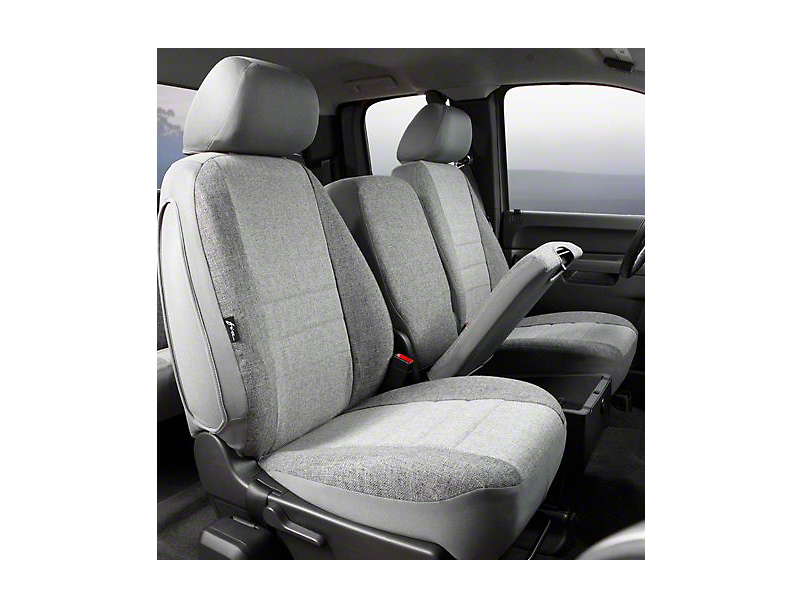 Fia Custom Fit Tweed Front Seat Covers - Gray (07-13 Sierra 1500 w/ Bench Seat)
