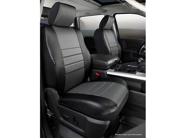 Fia Custom Fit Leatherlite Front Seat Covers - Gray (07-13 Sierra 1500 w/ Bucket Seats)