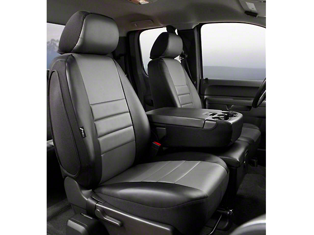 Fia Custom Fit Leatherlite Front Seat Cover - Gray (07-13 Sierra 1500 w/ Bench Seat)