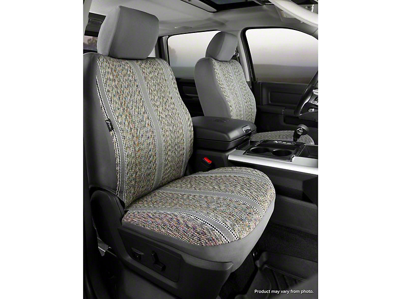 Fia Custom Fit Saddle Blanket Front Seat Covers - Gray (07-13 Sierra 1500 w/ Bucket Seats)