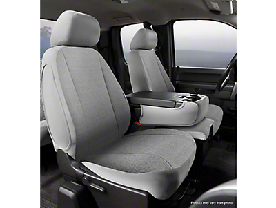 Fia Custom Fit Solid Saddle Blanket Front Seat Covers - Gray (07-13 Sierra 1500 w/ Bench Seat)