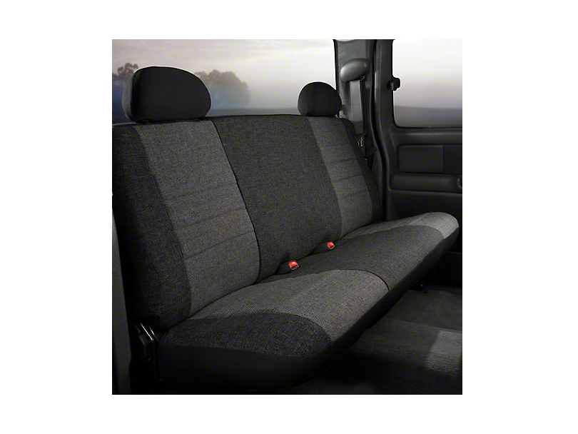 Fia Custom Fit Tweed Rear Seat Cover - Charcoal (07-13 Sierra 1500 Extended Cab, Crew Cab)