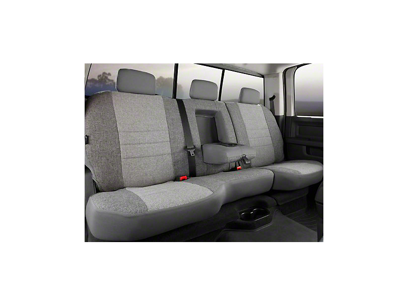 Fia Custom Fit Tweed Rear Seat Cover - Gray (07-13 Sierra 1500 Extended Cab, Crew Cab)