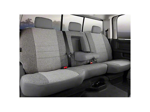 Fia Custom Fit Tweed Rear Seat Cover; Gray (07-13 Sierra 1500 Extended Cab, Crew Cab)