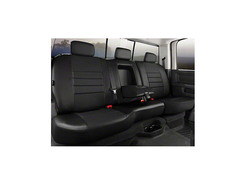 Fia Custom Fit Leatherlite Rear Seat Cover - Black (07-13 Sierra 1500 Extended Cab, Crew Cab)