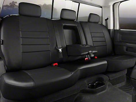 Fia Custom Fit Leatherlite Rear Seat Cover - Black (07-13 Sierra 1500 Extended Cab, Crew Cab)