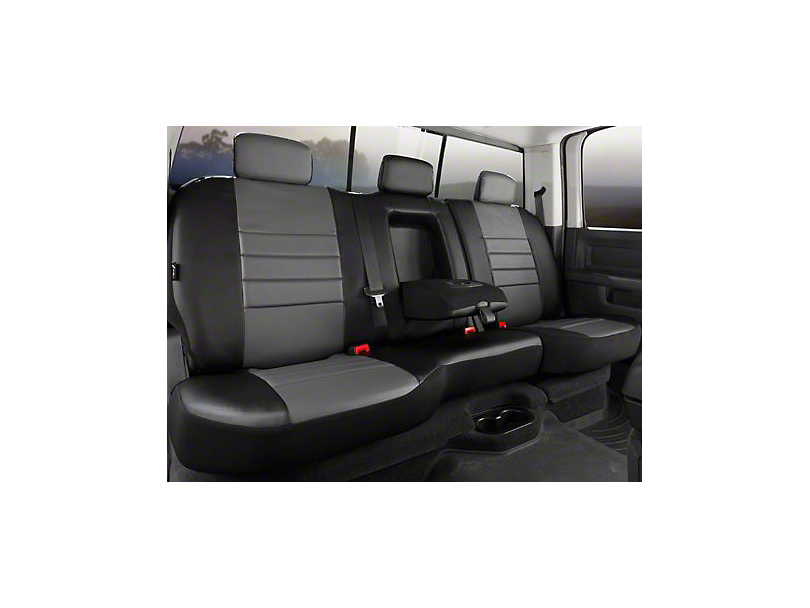 Fia Custom Fit Leatherlite Rear Seat Cover - Gray (07-13 Sierra 1500 Extended Cab, Crew Cab)