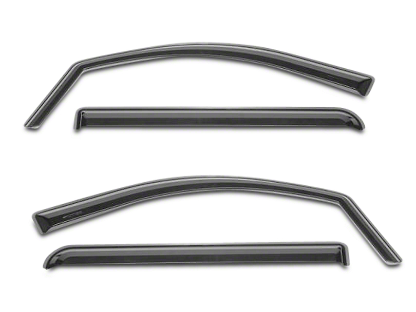 Putco Tinted Element Window Visors - Channel Mount - Front & Rear (14-18 Sierra 1500 Double Cab, Crew Cab)