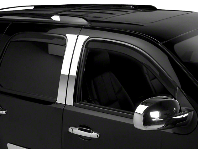 Putco Tinted Element Window Visors - Channel Mount - Front & Rear (07-13 Sierra 1500 Extended Cab, Crew Cab)