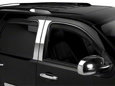 Putco Element Tinted Window Visors - Channel Mount - Front & Rear (07-13 Sierra 1500 Extended Cab, Crew Cab)