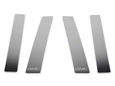 Putco Stainless Steel Pillar Posts w/ GMC Logo (14-18 Sierra 1500 Double Cab, Crew Cab)