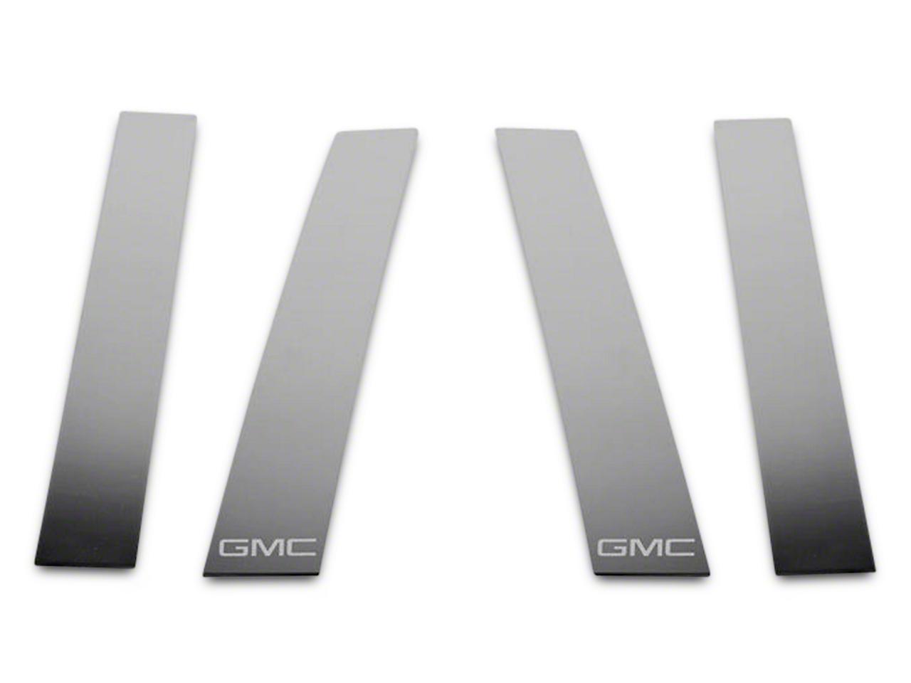 Stainless Steel Pillar Posts w/ GMC Logo (14-18 Sierra 1500 Double Cab, Crew Cab)