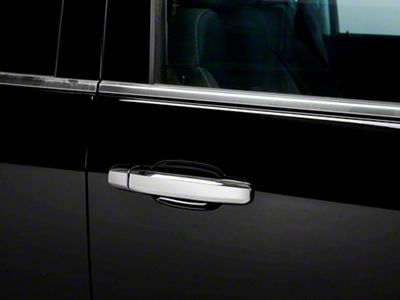 Putco Chrome Door Handle Covers - w/o Passenger Keyhole (14-18 Sierra 1500 Double Cab, Crew Cab)