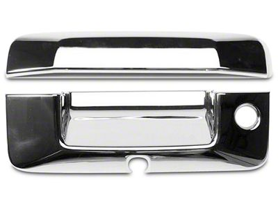 Putco Chrome Tailgate Handle Covers (14-18 Sierra 1500 w/ Keyhole, w/ Camera Opening)