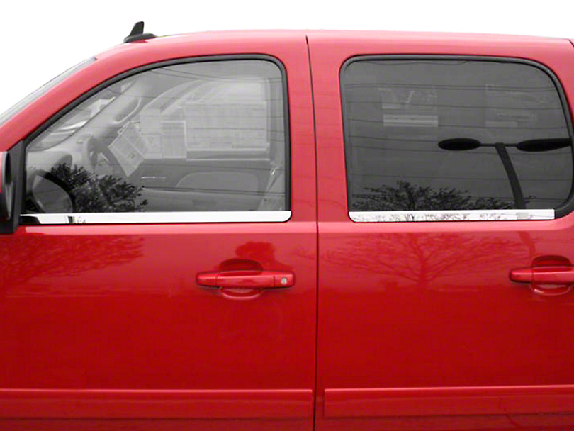 Putco Window Trim - Chrome (07-13 Sierra 1500 Extended Cab, Crew Cab)