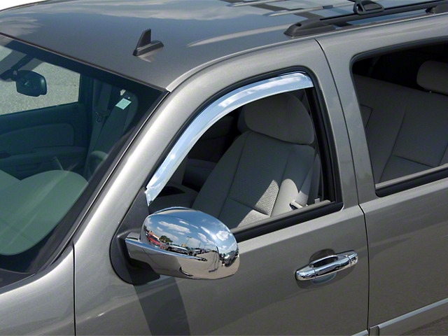 Putco Element Chrome Window Visors - Channel Mount - Fronts Only (07-13 Sierra 1500 Regular Cab, Crew Cab)