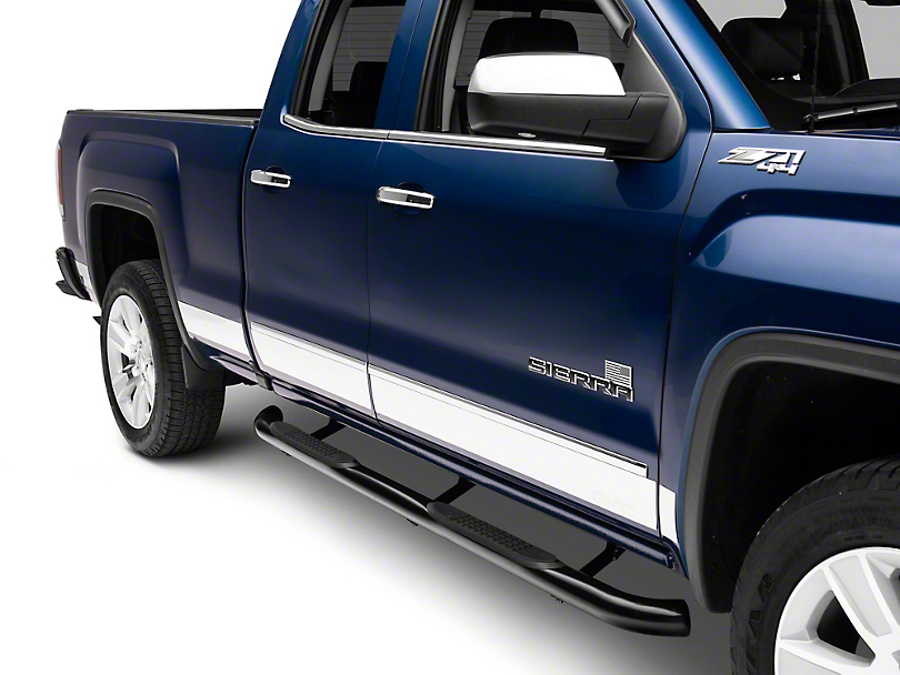 Putco Stainless Steel Rocker Panels w/ GMC Logo (14-18 Sierra 1500)