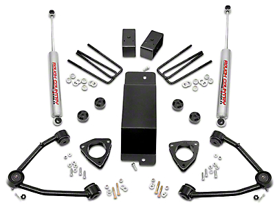 Rough Country 3.5 in. Suspension Lift Kit w/ Upper Control Arms (07-16 4WD Sierra 1500 w/ Stock Cast Steel or Aluminum Control Arms, Excluding 14-16 Denali)