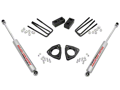 Rough Country 3.5 in. Suspension Lift Kit w/o Upper Control Arms (07-13 2WD Sierra 1500 w/ Stock Cast Steel Control Arms)