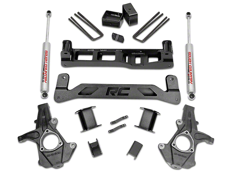 Rough Country 5 in. Suspension Lift Kit w/ Shocks & Struts (07-13 2WD Sierra 1500)
