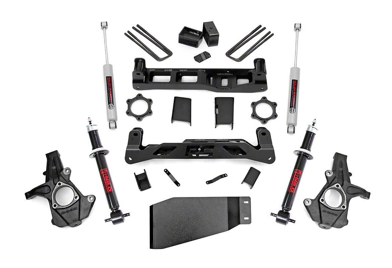 Rough Country 5 in. Suspension Lift Kit w/ Shocks & Struts (07-13 4WD Sierra 1500)