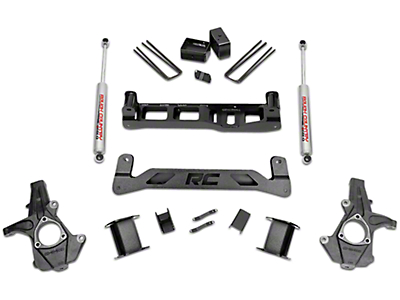 Rough Country 5 in. Suspension Lift Kit w/ Shocks - Knuckle Kit (14-18 2WD Sierra 1500, Excluding Denali)