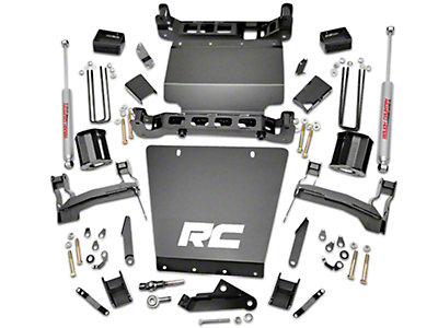 Rough Country 5 in. Suspension Lift Kit w/ Shocks - Bracket Kit (14-18 4WD Sierra 1500, Excluding Denali)