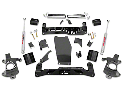 Rough Country 5 in. Suspension Lift Kit w/ Shocks - Knuckle Kit (14-18 4WD Sierra 1500, Excluding Denali)