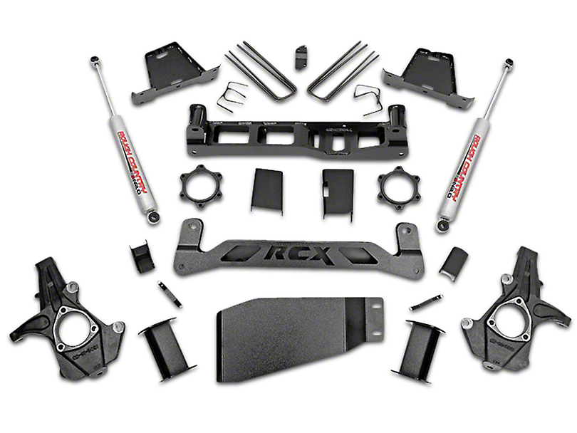 Rough Country 6 in. Suspension Lift Kit w/ Shocks (07-13 4WD Sierra 1500)