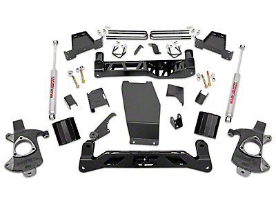 Rough Country 6 in. Suspension Lift Kit w/ Shocks (14-18 4WD Sierra 1500, Excluding Denali)