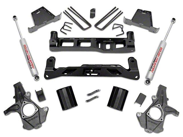 Rough Country 7.5 in. Suspension Lift Kit w/ Shocks (07-13 2WD Sierra 1500)