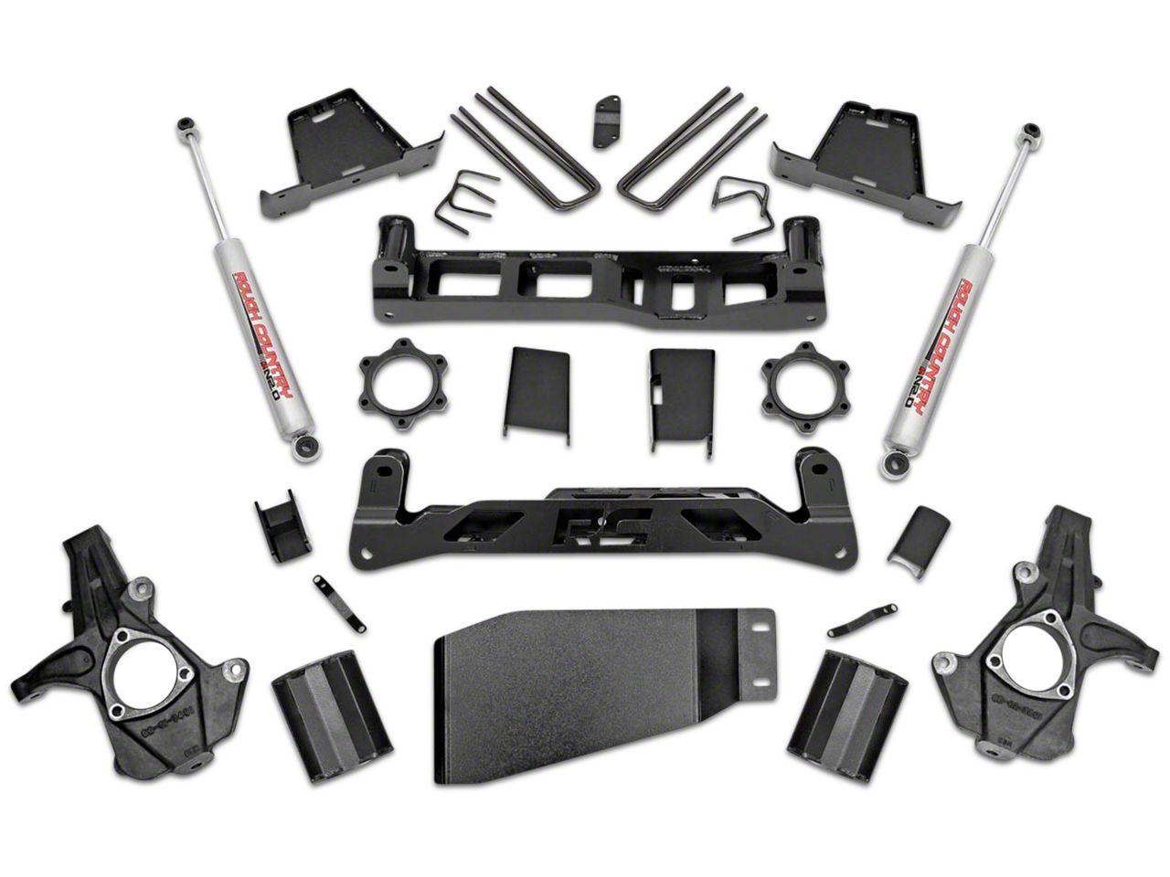 Rough Country 7.5 in. Suspension Lift Kit w/ Premium N3 Shocks - No Struts (07-13 4WD Sierra 1500)
