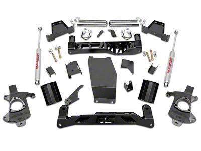 Rough Country 7 in. Suspension Lift Kit w/ Premium N2.0 Shocks - No Struts (14-18 4WD Sierra 1500 w/ Stock Cast Steel Control Arms)