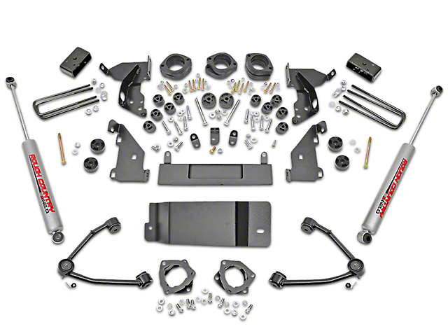 Rough Country 4.75 in. Suspension & Body Lift Kit w/ Upper Control Arms (14-15 4WD Sierra 1500 w/ Stock Cast Steel or Aluminum Control Arms)