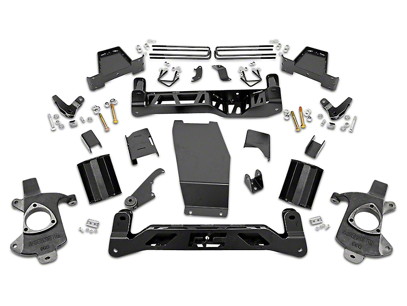 Rough Country 7.5 in. MagneRide Suspension Lift Kit (14-18 4WD Sierra 1500 Denali w/ Stock Cast Steel or Aluminum Control Arms)