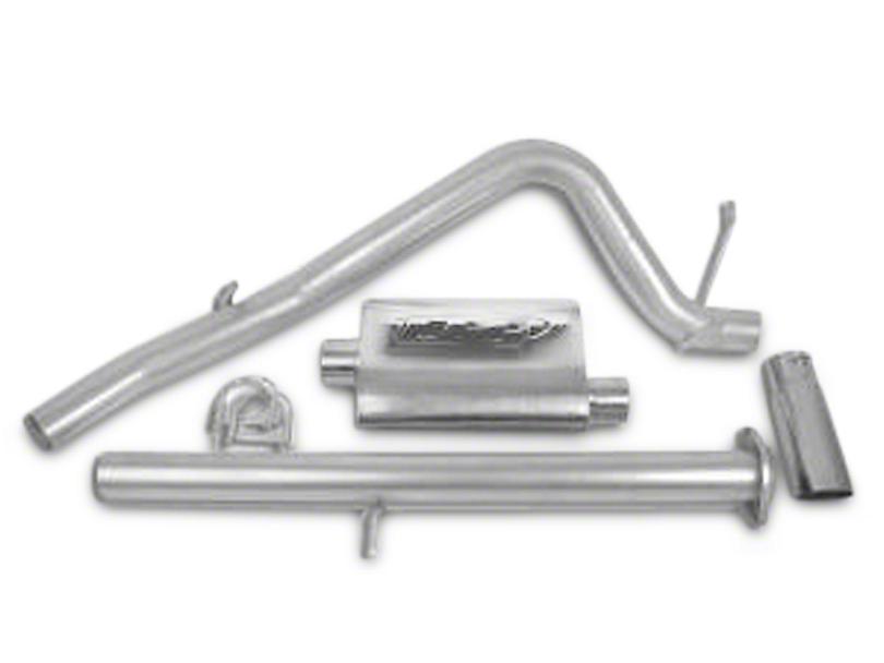 CGS Motorsports Aluminized Single Exhaust System - Side Exit (07-08 4.8L Sierra 1500)