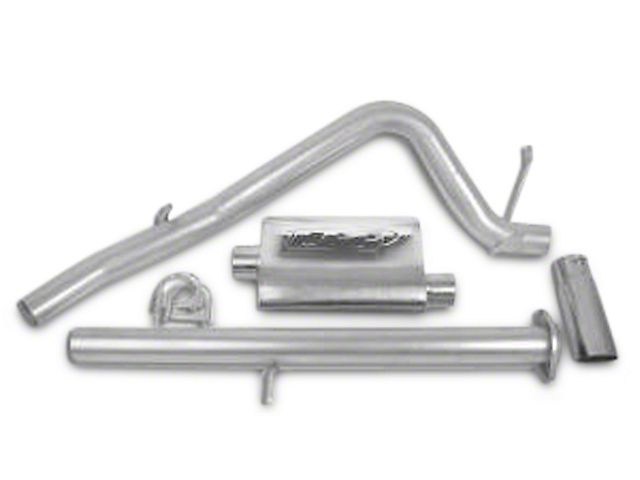 CGS Motorsports Aluminized Single Exhaust System - Side Exit (07-08 4.8L Sierra 1500)