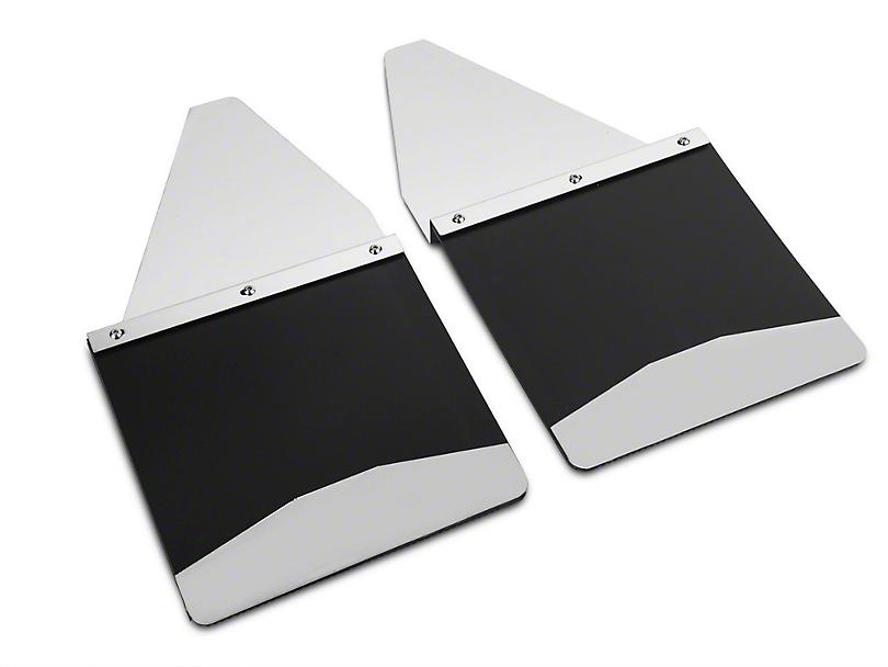 Husky 12 in. Wide KickBack Mud Flaps - Stainless Steel Top & Weight (07-18 Sierra 1500)