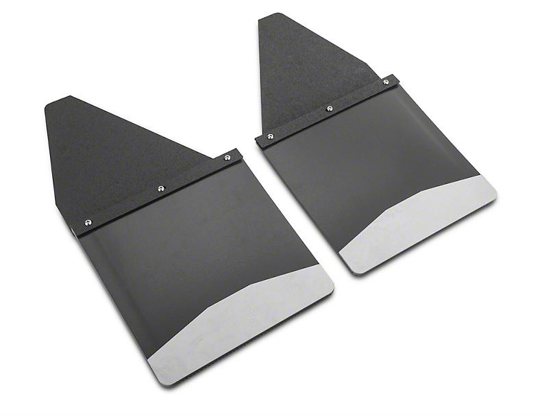 Husky 12 in. Wide KickBack Mud Flaps - Textured Black Top & Stainless Steel Weight (07-19 Sierra 1500)