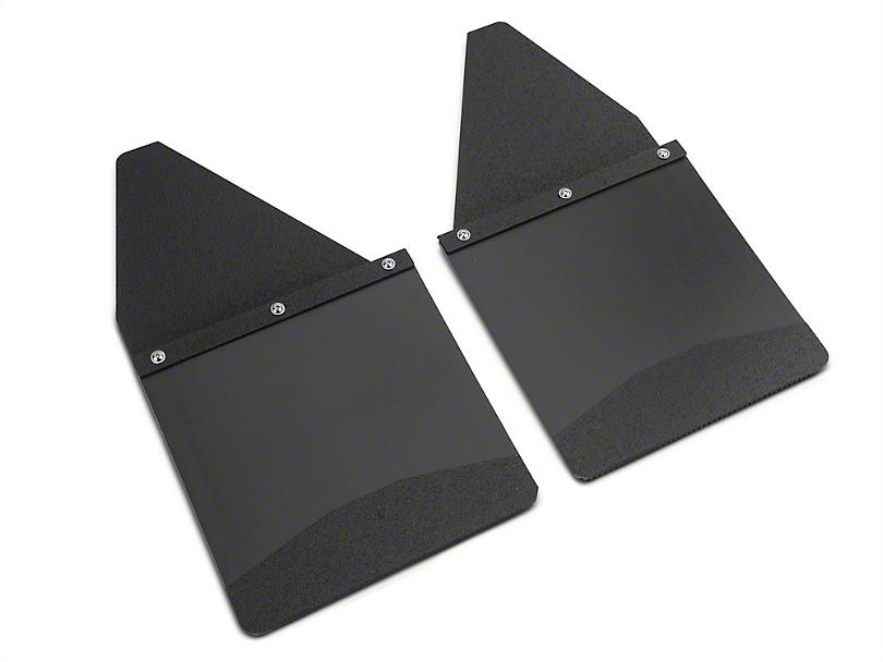 Husky 12 in. Wide KickBack Mud Flaps - Textured Black Top & Weight (07-19 Sierra 1500)