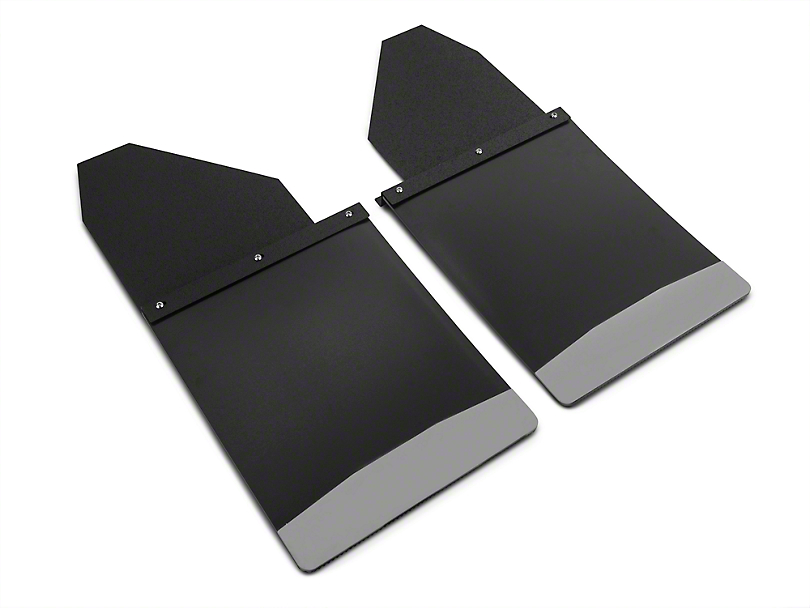 Husky 14 in. Wide KickBack Mud Flaps - Textured Black Top & Stainless Steel Weight (07-19 Sierra 1500)