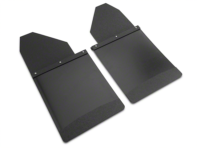 Husky 14 in. Wide KickBack Mud Flaps - Textured Black Top & Weight (07-19 Sierra 1500)