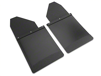 Husky 14 in. Wide KickBack Mud Flaps - Textured Black Top & Weight (07-18 Sierra 1500)