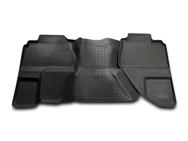 Husky Classic 2nd Seat Floor Liner - Black (07-13 Sierra 1500 Extended Cab, Crew Cab)