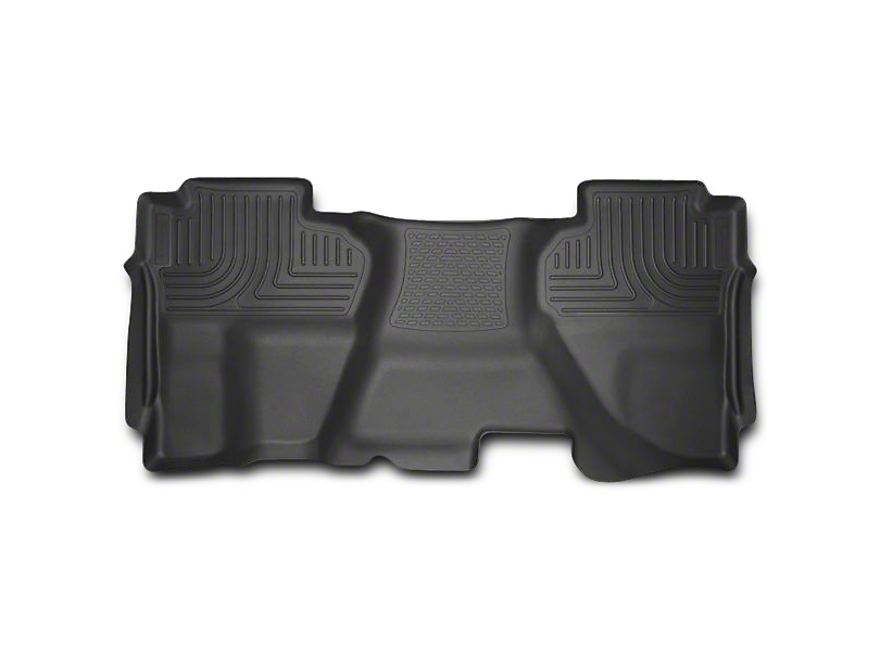 Husky WeatherBeater 2nd Seat Floor Liner - Full Coverage - Black (07-13 Sierra 1500 Extended Cab, Crew Cab)