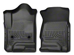 Husky WeatherBeater Front Floor Liners - Black (14-18 Sierra 1500 Double Cab, Crew Cab)