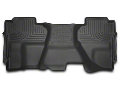 Add Husky WeatherBeater 2nd Seat Floor Liner - Full Coverage - Black (14-17 Double Cab, Crew Cab)