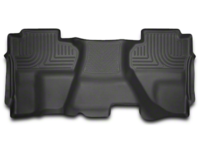 Husky WeatherBeater 2nd Seat Floor Liner - Full Coverage - Black (14-18 Sierra 1500 Double Cab, Crew Cab)