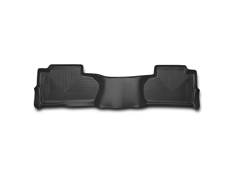 Husky X-Act Contour 2nd Seat Floor Liner - Black (14-18 Sierra 1500 Double Cab, Crew Cab)