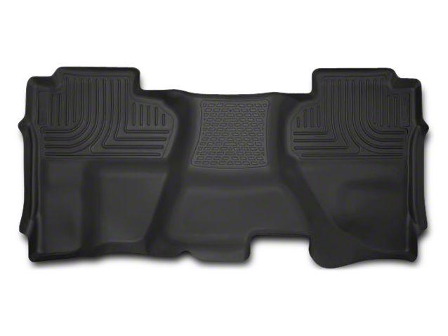 Husky X-Act Contour 2nd Seat Floor Liner - Full Coverage - Black (14-18 Sierra 1500 Crew Cab)